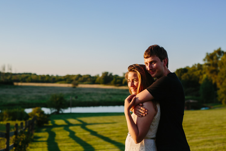 intimate Misty Farm engagement photo, by Kelly Benvenuto Photography