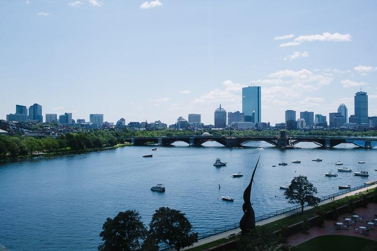 Boston skyline view from the Cambridge Royal Sonesta