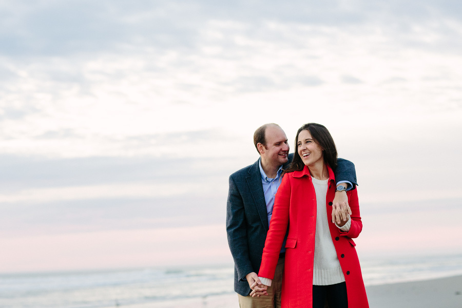 Sunrise engagement session on Duxbury Beach | Boston wedding photographer Kelly Benvenuto